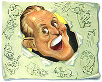 celtic_writer: Adults Say the Darndest Things - Caricature of Art Linkletter by Sam Berman